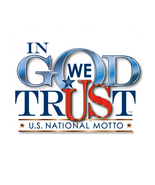 IN GOD WE TRUST CLEAR VINYL REMOVABLE WINDOW STICKER - $7.99