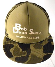 Bob Dean Supply Immokalee FL Camoflage Mesh Trucker Snapback Adjustable ... - $16.99