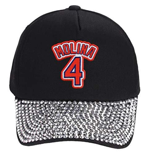 Primary image for Yadier Molina Hat - Women's St Louis Baseball Jersey Number Cap (Rhinestone Stud