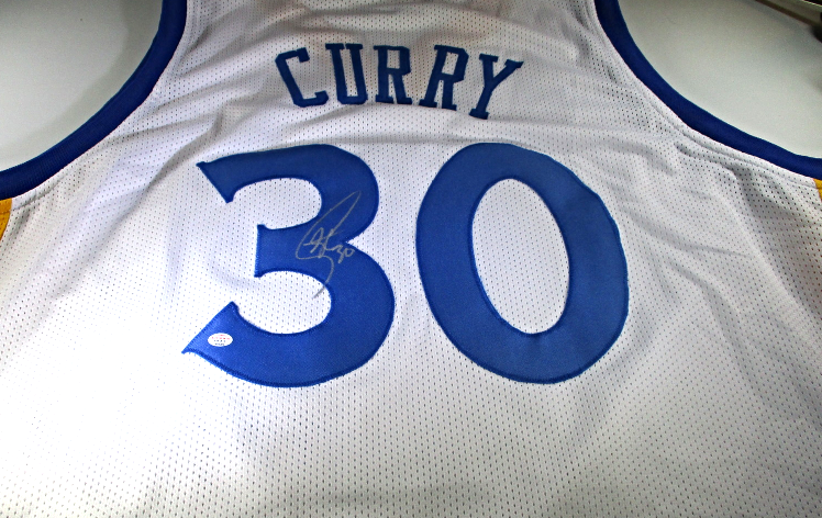 hot sale online 307c4 3af07 STEPHEN CURRY - HAND SIGNED GOLDEN STATE WARRIORS CUSTOM BASKETBALL JERSEY  - COA