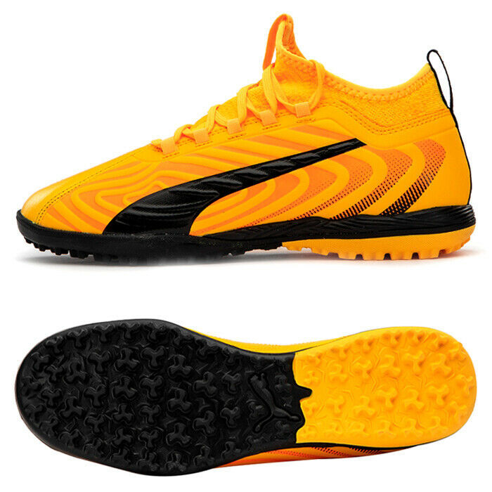 Puma ONE 20.3 TT Turf Football Shoes Soccer Cleats Boots Yellow 10582801 - $89.99
