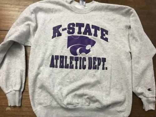 k-state sweatshirt vintage champion XL 90s