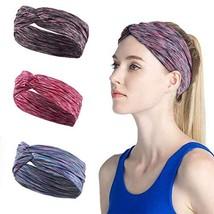 Wide Yoga Headbands for Women Men Sweatband Workout Sweat Bands Elastic Wide Hea