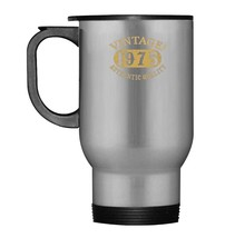 43 years old 43rd B day Birthday Vintage Gift 1975 Travel Mug - $21.99