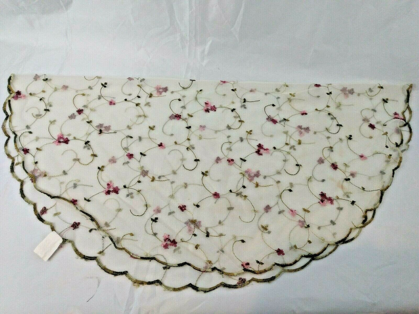 Primary image for Round Sheer Embroidered Floral Table Cloth