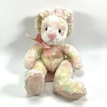 Russ Berrie Rainbow Pink Bunny Rabbit 8 in Soft Sherbert Plush Ombre Pin... - $28.01