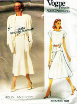 Vintage Misses' Jacket, Skirt & Top Vogue Designer Pattern 1387 Sz 14 UNCUT - $45.00