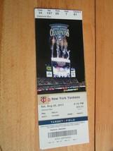 MLB 2011 Minnesota Twins (Central Division Champs) Vs New York NY Yankees 8/20 - $2.92