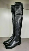 Stuart Weitzman 50/50 Over the Knee Boot, Black Leather, Womens Size 9 & 9.5 - $316.00+