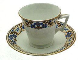 bridgwood Anchor China Floral Cup and Saucer - $25.47