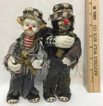 Hobo Clown Figurines Bottle of Booze Stogie Cigar Drunks Ceramic Lot 2 F... - $14.84
