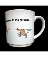 Sandra Boynton Coffee Mug Welcome to the Rat Race Ceramic Cup Office Cow... - $9.41