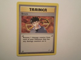 Pokemon Card - Trainer Brock - (98/132) Gym Heroes Set Rare ***EXC*** - $2.99