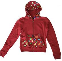 UGP Süßigkeiten Damen Gekürzt Kastanienbraun Rot Fruchtig Lecker Zip Kapuze Nwt image 1