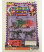 Justen Products Cowboy and Indians Play Set Horses Covered Wagon Boys To... - $9.99