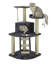 """Go Pet Club 48"""" Classic Cat Tree Condo with Sisal Covered Posts - $58.55"""