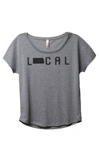 Thread Tank Local Kansas State Women's Slouchy Dolman T-Shirt Tee Heather Grey - $24.99+