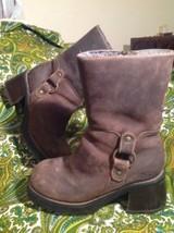 Vintage Skechers Women's Sz 8B Brown Leather Chunky Heels Short Boots Mrsp $149 - $69.29