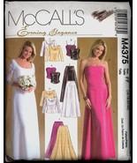 Part Cut Size 16 18 20 22 Evening Elegance Top Skirt McCalls 4375 Pattern - $7.99
