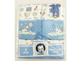 Gerber 3 Pack Sleep 'n Plays, Tagless, Zip Front, 0-3 Months, Perfect for a Boy