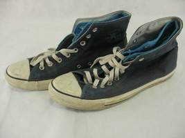 Converse All Star Chuck Taylor Double Tongue High Top Blue M 11 W 13 Fli... - $19.69