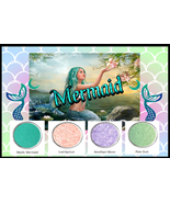 Mermaid Costume Halloween Makeup Eye Shadow Holographic Lips SFX Unicorn... - $12.61