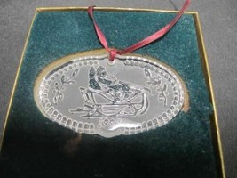 1997 Waterford glass Christmas ornament decoration - $32.41