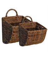 2/ Set Willow Wall hanging basket floral planters - $33.46