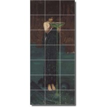 John Waterhouse Mythology Painting Tile Murals BZ09369. Kitchen Backsplash Bathr - $210.00+