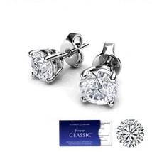 3.00 Carat Moissanite Forever  Classic Stud Earrings in 14K Gold Charles&Colvard