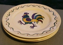 3 Metlox Poppytrail California Provincial Green Red Rooster Dinner Plate... - $19.99