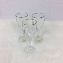 """Set Three 3 Lenox Crystal Debut Platinum Iced Tea Glasses 7 3/4"""" x 3 1/4... - $46.71"""