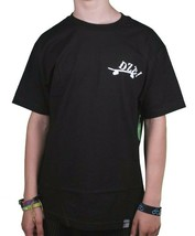 Dissizit Mens Black Sk8 Xing Skate Crossing T-Shirt image 2