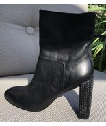 H Halston Studded Leather Boots - Size 6.5- BRAND NEW - $86.73