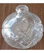 Vintage Little Glass Perfume Bottle - NO LID - VGC - GREAT DIAMOND CROSS... - $9.89