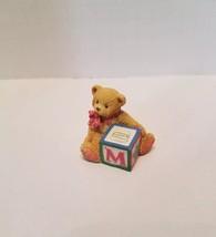 Alphabet ABC Bear M Block 158488M  Priscilla Hillman Cherished Teddies 1995 - $8.90