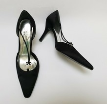 The Touch of Nina Womens Shoes Heels Fabric Slip On  Black Size US 9 M EU 39 - $39.55