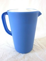 VINTAGE NEW BRIGHT BLUE RUBBERMAID 1 GALLON PITCHER WITH LID USA 1A21 4 - $15.34