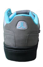 WeSC Mens Black Dark Shadow Gray Turquoise Emerson Stash Graffiti NY Shoes image 5