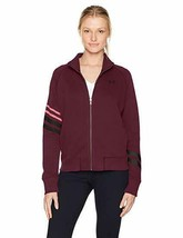 Under Armour Women's French Terry Warm-Up Zip Jacket, Raisin Red/Black, ... - $27.67