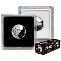 (50) BCW (2 x 2) COIN SNAPS - NICKEL - BLACK - $21.84