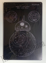 "Star Wars Rebel alliance patent BB-8 Wall Metal Sign plate Home decor 11.75"" x7."