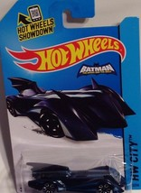 Mattel 2015 Hot Wheels Batman Batmobile Blue Car HW City 63/250 NIP - $7.92