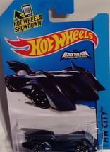 Mattel 2015 Hot Wheels Batman Batmobile Blue Car HW City 63/250 NIP - $7.92
