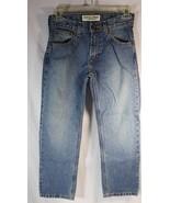 Arizona Jeans Boys 10 Regular Straight Leg Adjustable Waist Medium Wash ... - $13.85