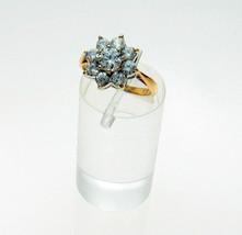 9ct Gold Cubic Zirconia Cluster Set Ring London Hallmark - $70.36