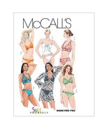 McCall's Patterns M5400 Misses' Two- Piece Bathing Suit and Cover-Up, Si... - $14.21