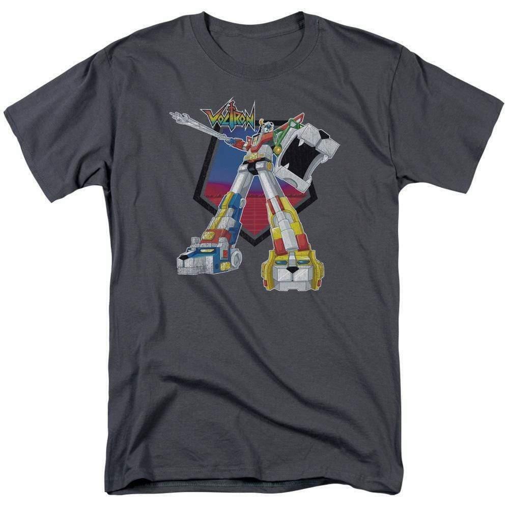 Voltron t-shirt Defender Robot retro 80's animation TV graphic tee DRM117B