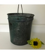 ANTIQUE Ice Cream Freezer 2qt Galvanized DANDY Can JOY PENNSYLVANIA Pa T... - $65.06