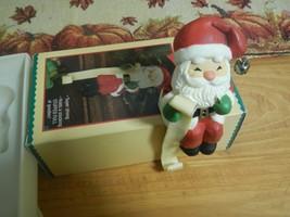 Vtg Hallmark Christmas Stocking Hanger Santa Claus Naughty Nice List - $4.90